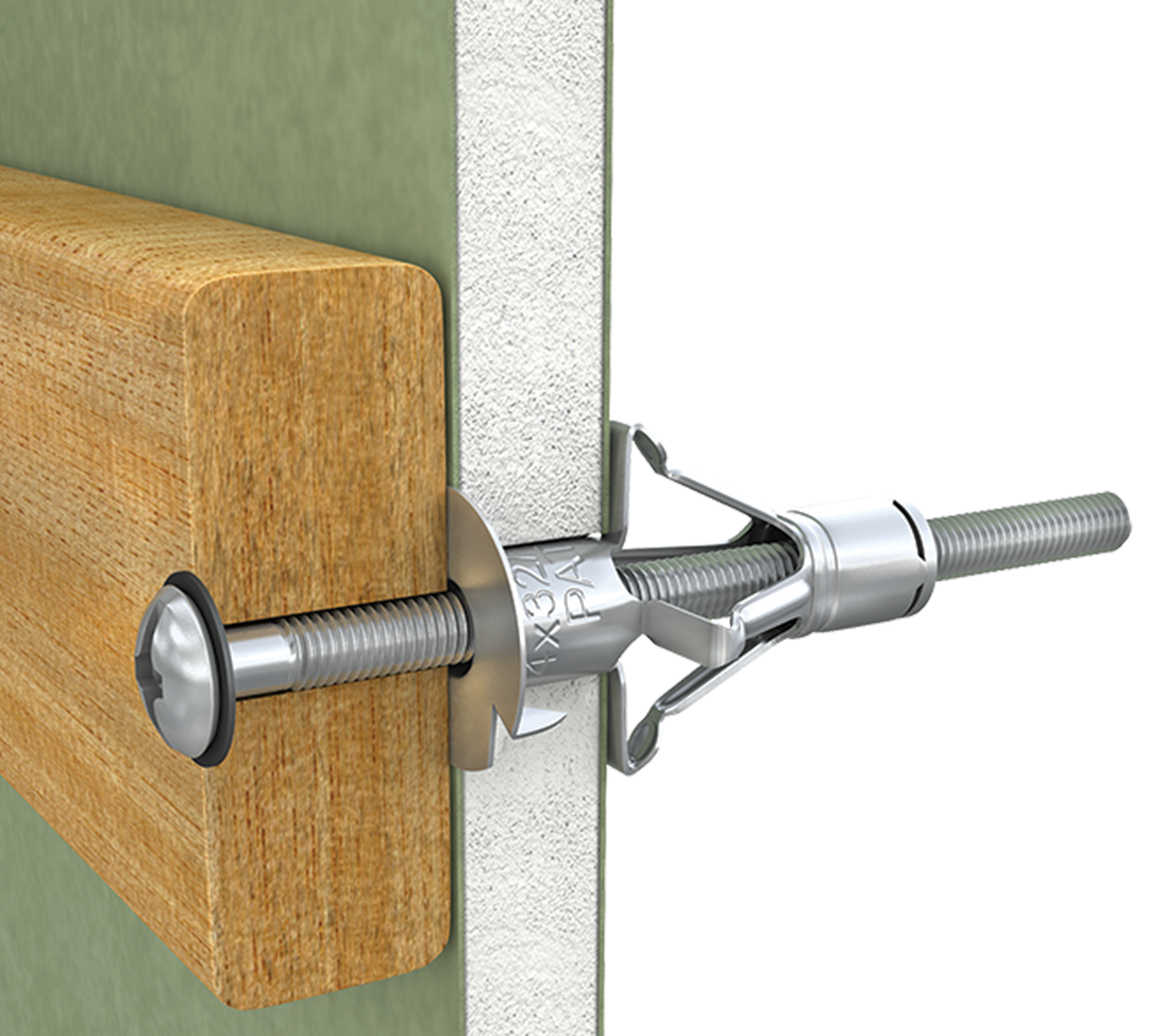 Metal self drill fixing for plasterboard