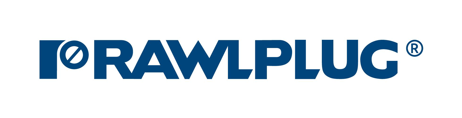 Rawlplug logo - blue on white
