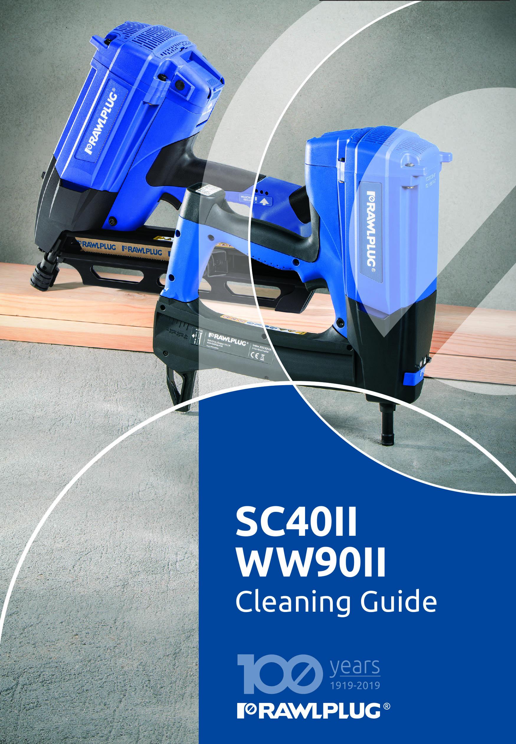 Rawlplug SC40 II_& WW90II Cleaning guide